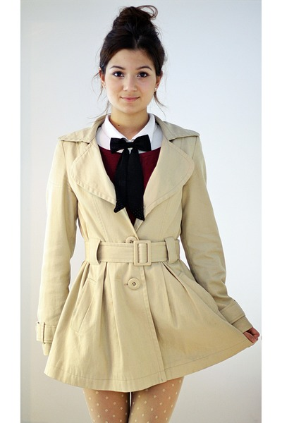 trench Primark coat - bow asos accessories
