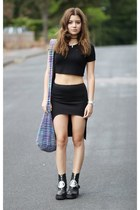 nastygal skirt - UNIF boots - Missguided top