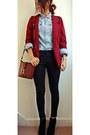 Brick-red-cotton-clobber-blazer-primark-shirt