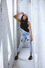 Zara-jeans-dad-lacoste-hat-alloy-apparel-top-creepers-puma-fenty-sneakers