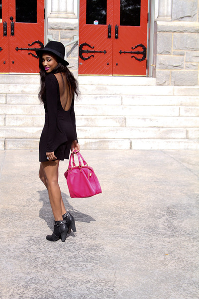 hot pink Navoh bag - black Joes Jeans boots - black Blue Life dress