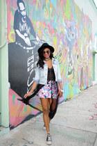 all-star Converse sneakers - denim jacket Forever 21 jacket - Miu Miu sunglasses