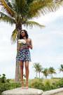White-italia-independent-sunglasses-blue-forever-21-skirt
