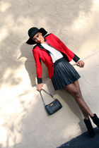 ruby red Rugby by Ralph Lauren jacket - black jemma platforms Dolce Vita boots