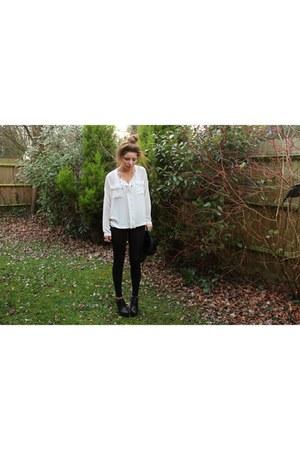 Deena & Ozzy heels - Topshop shirt