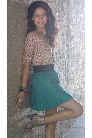 Macys heels - Forever 21 sweater - Macys skirt - Forever 21 ring