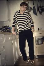 Tristan & American shirt - thrifted pants - Cole Haan shoes - bracelet