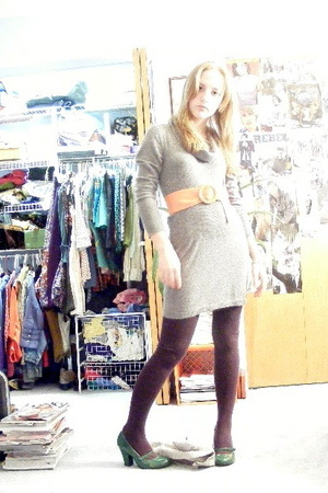 BCBG dress - belt - forever 21 tights - Charlotte Russe shoes