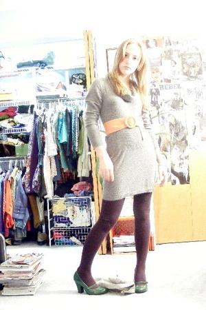 BCBG dress - belt - forever 21 tights - Charlotte Russe shoes
