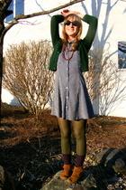 sweater - Old Navy dress - Minnetonka shoes - sunglasses