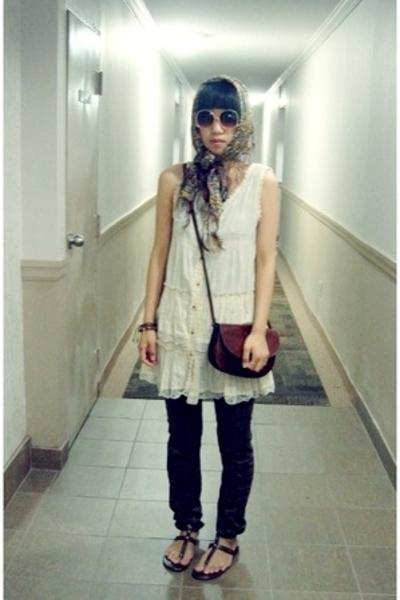 H&M scarf - purse - Lux pants - f21 glasses