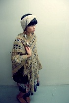 H&M hat - sweater - f21 shoes - vintage dress