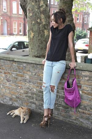 Kandee heels - Current Elliott jeans - balenciaga bag - Topshop t-shirt