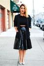 Black-h-m-blazer-black-wasteland-skirt-black-tobicom-top-silver-zara-flats