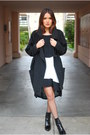 Zara-boots-black-nasty-gal-dress-nasty-gal-coat-nasty-gal-cardigan