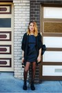 Black-nasty-gal-boots-black-unif-dress-black-nasty-gal-jacket