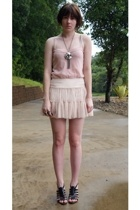 Target Australia top - Valley Girl skirt - Target Australia shoes - bardot neckl
