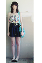 cotton on skirt - Mink Pink skirt - Wittner purse