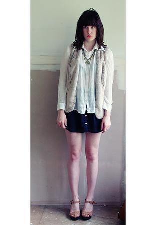 cotton on skirt - kathrine vest - shirt