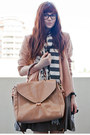 Heather-gray-silk-witchery-dress-light-pink-valley-girl-blazer-neutral-bag