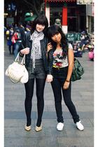 cotton on scarf - American Apparel shirt - Zara shorts - jacket