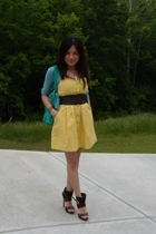 Forever21 dress - Wet Seal belt - random - Bakers shoes - alloy purse