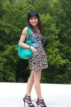 Forever21 dress - Wet Seal vest - Forever21 shoes - alloy purse - vintage belt