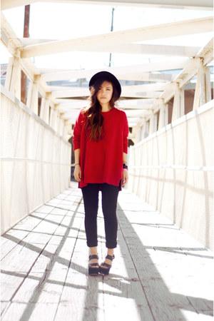 Zara sweater - hm hat - Uniqlo pants