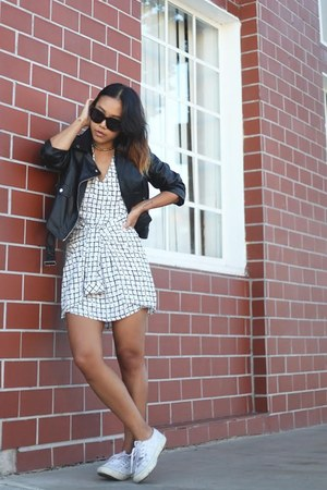 Missguided dress - faux leather Missguided jacket