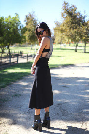 midi Front Row Shop skirt