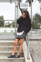 vintage sweater - Zadig & Voltaire shoes - houndstooth Sugarlips skirt