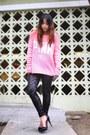 Black-sequined-victorias-secret-pink-leggings