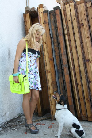 lime green cambridge satchel bag - heather gray Topshop heels