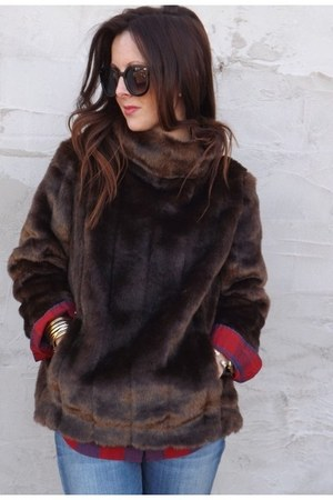 faux fur banana republic jacket