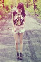 tiger print suger sugar t-shirt - leopard print Deashop boots