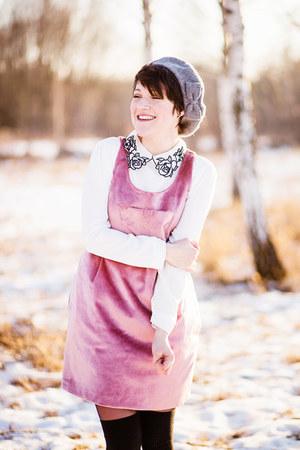 white romwe blouse - bubble gum handmade dress