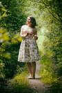 Light-pink-gingham-handmade-dress-white-floral-handmade-skirt