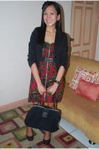 sm dept blazer - Pink Manila dress - DIY belt - Mango purse - Parisian shoes -