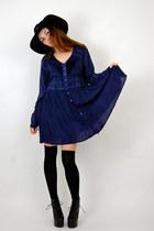 babydoll dress vintage from Rock Paper Vintage dress - mr floppy Forever 21 hat