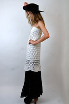 vintage crochet Rock Paper Vintage dress - Forever 21 skirt