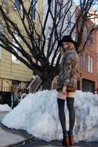 leopard print Rock Paper Vintage blazer - lita Jeffrey Campbell heels