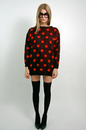 black Rock Paper Vintage sweater - black cynthia rowley stockings