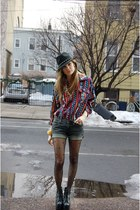 black chain fedora Forever 21 hat - ruby red vintage from Rock Paper Vintage shi