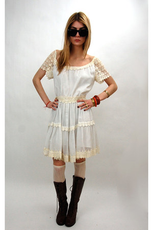 ivory crochet mini vintage from Rock Paper Vintage dress