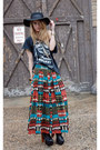 Black-diy-jd-shirt-teal-vintage-from-rock-paper-vintage-skirt-black-litas-ba