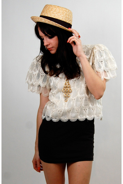 white Rock Paper Vintage top