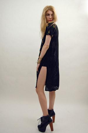 black vintage from Rock Paper Vintage dress - black disco American Apparel short