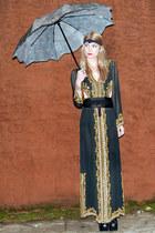black beaded maxi vintage from Rock Paper Vintage dress