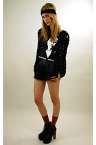 black sequin Rock Paper Vintage jacket