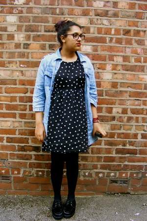 Monki dress - creepers shoes - Matalan shirt - Gok Won glasses